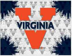 Virginia Cavaliers Hbs Gray Navy Wall Canvas Art Picture Print