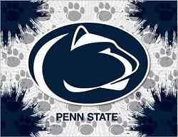 Penn State Nittany Lions Hbs Gray Navy Wall Canvas Art Picture Print