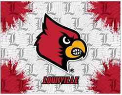 Louisville Cardinals Hbs Gray Red Wall Canvas Art Picture Print