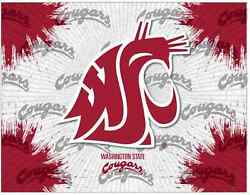 Washington State Cougars Hbs Gray Red Wall Canvas Art Picture Print