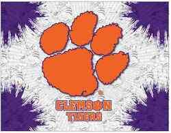 Clemson Tigers Hbs Gray Purple Wall Canvas Art Picture Print