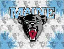 Maine Black Bears Hbs Gray Blue Wall Canvas Art Picture Print