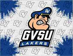 Grand Valley State Lakers Hbs Gray Blue Wall Canvas Art Picture Print