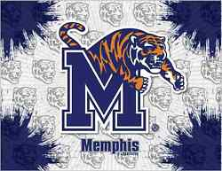 Memphis Tigers Hbs Gray Navy Wall Canvas Art Picture Print