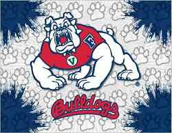 Fresno State Bulldogs Hbs Gray Navy Wall Canvas Art Picture Print