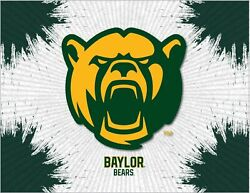 Baylor Bears Hbs Gray Green Wall Canvas Art Picture Print