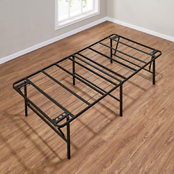 Mainstays 18 High Profile Foldable Steel Bed Frame Powder-coated Steel Twin