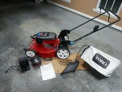 New Toro 22 Inch 60 Volt 20361 Flex Force Battery Operated Lawnmower Recycler