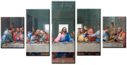 Jesus The Last Supper Wall Art Dining Room Painting Large Kitchen Wall Canvas In