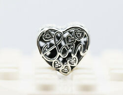 Genuine Pandora Sterling Silver 925 Ale Mother And Son Bond Heart Charm 792109