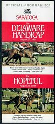 Chief's Crown In 1984 Saratoga Race Course Hopeful Stakes Horse Racing Program