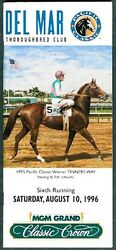 Cigar Horse Of The Year In 1996 Del Mar Pacific Classic Horse Racing Program