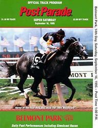 Cigar In 1995 Woodward Stakes Belmont Park Horse Racing Program 6th Straight