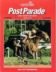 Holy Bull In 1994 Saratoga Race Course Travers Stakes Horse Racing Program