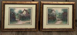 Home Interior House And Flowers Set Picture Frames 13.5 X 16.5andrdquo