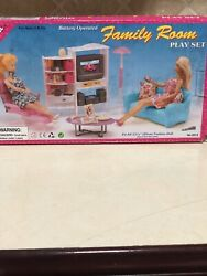 Gloria Family Room Play Set - Doll House Furniture New Open Box