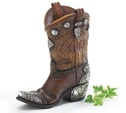 Burton And Burton Boots And Spurs Western Cowboy Boot Vase For Western Home