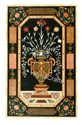 36 X 60 Inches Restaurant Table Top With Inlay Work Marble Dining Table For Home