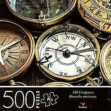 500 Piece Jigsaw Puzzle Cardinal 14 In X 11 In - Old Compasses Fathers Day Gift