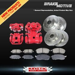 Front + Rear Brake Calipers And Rotors + Ceramic Pads For Town And Country Caravan