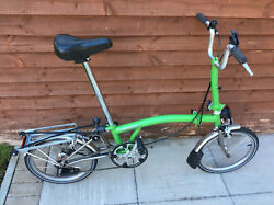 Brompton M3r-x Green Superlight Titanium 3 Speed Folding Bike Worldwide Shipping
