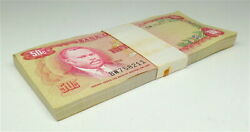 Bank Of Jamaica 1960 Fifty Cents 50c Uncirculated , Lot Of 74