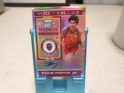 2019-20 Panini Contenders Optic 127 Kevin Porter Jr. Auto On Card T1393