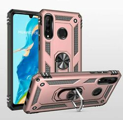 Phone Case For Huawei P30 Lite Case With Ring Holder Stand Women Men Girl Slim T
