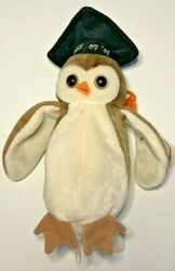 Rare Vintage Ty Beanie Baby Wise The Owl Class Of 1998 With Tag Errors