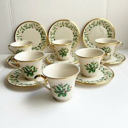 Lenox Holiday Dimension 14 Piece Dish Set Christmas Plates And Mugs Made In Usa