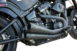 Sands Grand National 2-into-2 Exhaust System Black With Black End Caps 550-0760