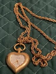 Cherokee Gold Tone Necklace Watch