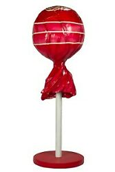 5and039 Red Lollipop Sucker Resin Statue Candy Prop Display