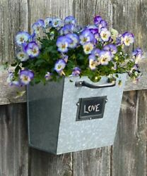 FILE DRAWER GALVANIZED WALL PLANTERS 4 PACK by PANACEA