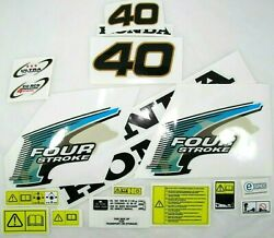 Decal Set Kit Honda Bf 40 Outboard Stickers For Cowl 63100-zv5-010za 1997-2003
