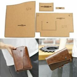 Leather Craft Men Clutch Storage Bag Business Sewing Pattern Diy Template Tools $28.99