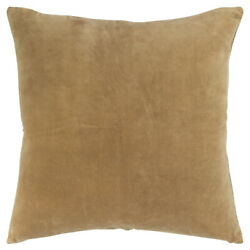 Rizzy Gold Welted Velvet Soft Woven Transitional Throw Pillow Solid T17894