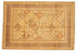 Hand-knotted Carpet 5and03910 X 8and0398 Traditional Vintage Wool Rug...discounted