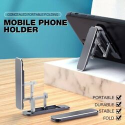 Concealed Portable Folding Mobile Phone Holder Mount Cell Stand Smartphone Gps