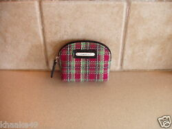 Longaberger Holiday Plaid Coin Purse With Silver Logo Nip Free Shipping