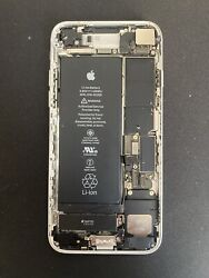 Iphone 7 Parts Only 32gb Sliver Phone Works Screen Is Broken