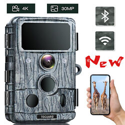 Trail Camera 30mp 4k Native Video Wifi Game Camera Motion Activated Hunting