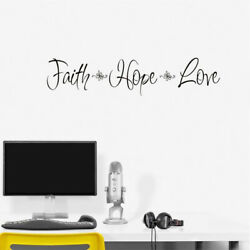 Faith Hope Love Bedroom Wall Sticker For Home Decoration Wall Decal black