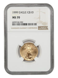 1999 Gold Eagle 10 Ngc Ms70 - American Gold Eagle Age - 1/4oz Gold