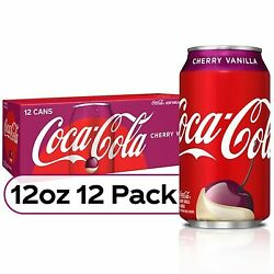 Coca Cola Cherry Vanilla Coke 12 Pack, 12oz Cans Fast Free Shipping