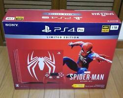 Playstation 4 Pro Ps 4 Marvel's Spider-man Limited Edition 1tb Console Japan