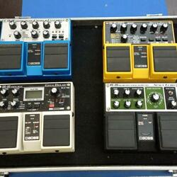 Boss Od-20 Re-20 Ce-20 Dd-20 4 Units Set With Effect Board From Japan