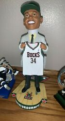 Giannis 2013 Draft Day Rookie Bobblehead By Forever Collectibles White Nib
