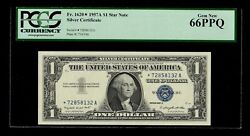 1957 A 1 Silver Certificate Star Fr.1620 Pcgs Certified Uncirculated 66 Ppq