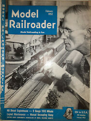 Vintage Lot Of 2 The Model Railroader Train Magazines 1951 And 1952